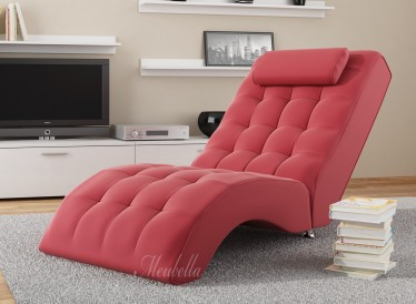 Chaise longue Cherry - Rood