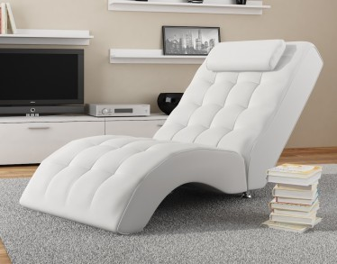 Chaise longue Cherry - Wit