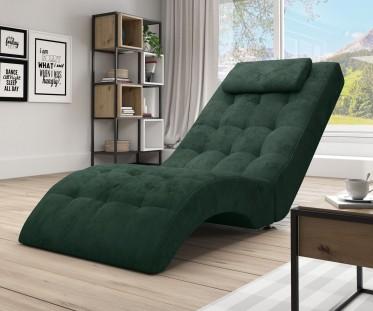 Chaise longue Cherry - Groen - Velvet
