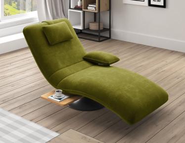 Chaise longue Evan - Groen - Velvet