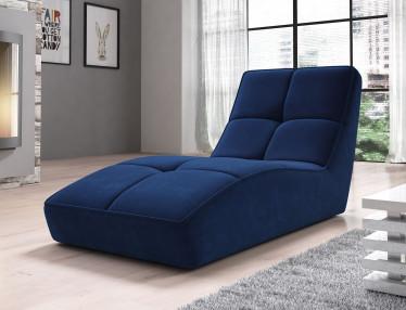 Chaise longue Galina - Blauw - Velvet