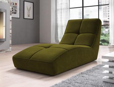 Chaise longue Galina - Groen - Velvet - ACTIE