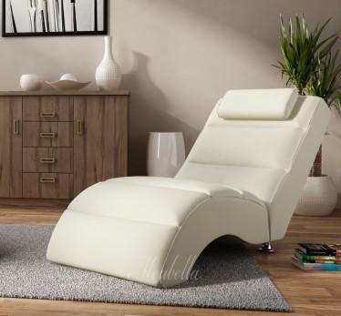 Chaise longue Rovila - Creme