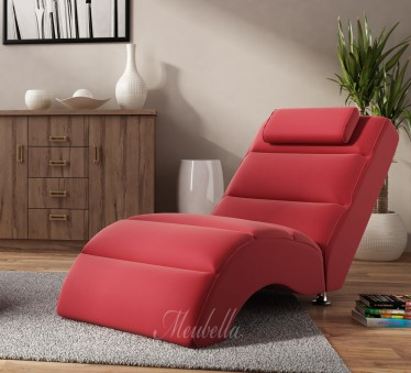 Chaise longue Rovila - Rood - ACTIE