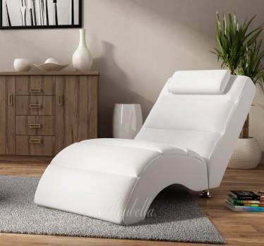 Chaise longue Rovila - Wit