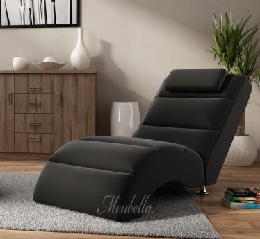 Chaise longue Rovila - Zwart