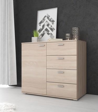 Commode Dento - Licht eiken - 100 cm