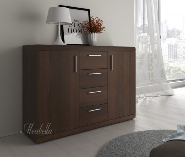 Commode Malibu - Wenge - 132 cm