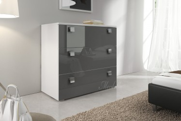 Commode Rivalo 90 - Grijs - Wit