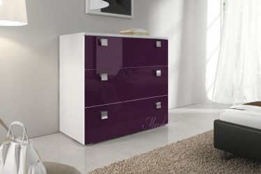 Commode Rivalo 90 - Paars - Wit