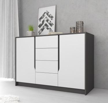 Commode Sephora - Wit - Grijs - 138 cm