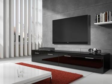 Zwevend Hoogglans Zwart Tv Meubel Flame 1 Lowboard Tv Kast.Tv Meubels Hoogglans 200 T M 219 Cm Meubella