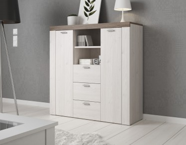 Dressoir Adore - Wit - Eiken - 118 cm