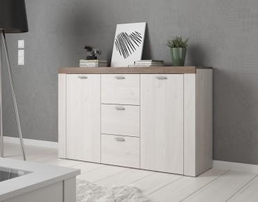 Dressoir Adore - Wit - Eiken - 146 cm - ACTIE