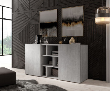 Dressoir Arizona - Betonlook - 132 cm