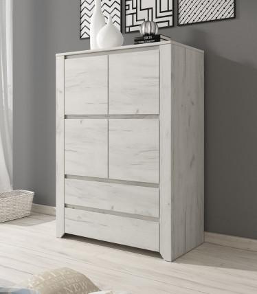 Dressoir Aversa - Wit eiken - 84 cm