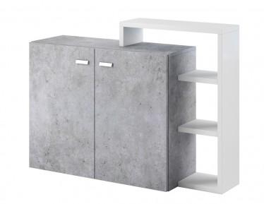 Dressoir Bello - Beton - Wit - 130 cm