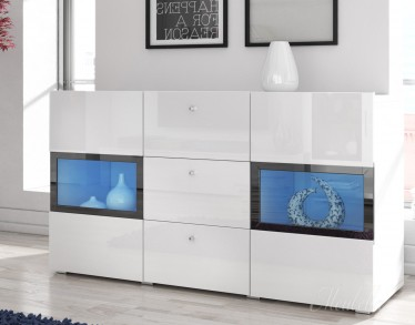 Hoogglans Kast Wit : Exclusief hoogglans wit design dressoir tv meubel zwevende