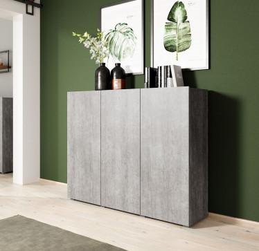 Dressoir Davina - Betonlook - 137 cm - Hoog