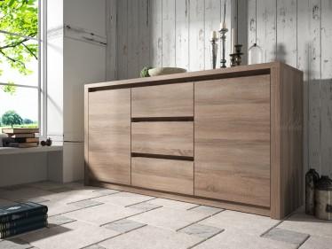 Dressoir Monaco - Truffel Eiken - 140 cm