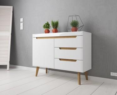 Dressoir Nebraska - Wit - Eiken - 107 cm