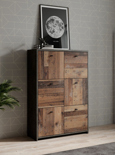 Dressoir Sahara 5 - Old wood - Grijs - 77 cm