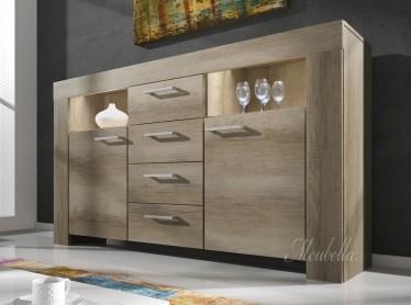 Dressoirs - Kasten en vitrinekasten - Woonkamer - grijs eiken | Meubella