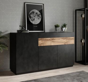 Dressoir Sublime - Grijs - Eiken - 150 cm