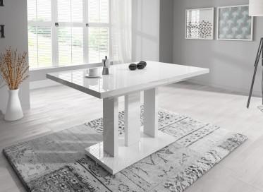 Eetkamertafel Amigo 130 - Hoogglans Wit - Uitschuifbaar