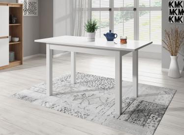Eetkamertafel Blues - Wit - 120 cm - Uitschuifbaar