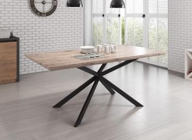 Eetkamertafel Cormac 180 - Licht eiken - Zwart - Showroommodel
