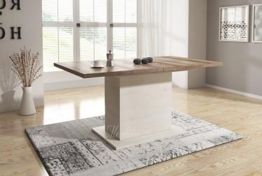 Eetkamertafel Danvill 160 - Wit - Eiken - Uitschuifbaar