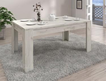 Eetkamertafel Crown 160 - Wit - Uitschuifbaar