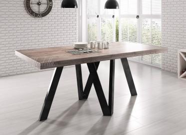 Eetkamertafel Rustic 180 - Eiken - Zwart - Outlet model