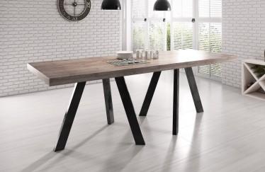 Eetkamertafel Rustic 240 - Eiken - Zwart - Outlet model