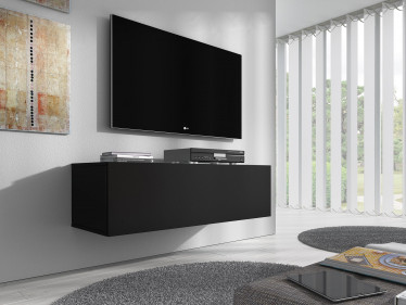 TV-Meubel Flame - Mat Zwart - 100 cm