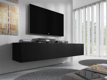 TV-Meubel Flame - Mat Zwart - 160 cm
