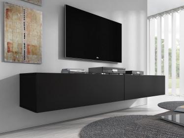TV-Meubel Flame - Mat Zwart - 200 cm
