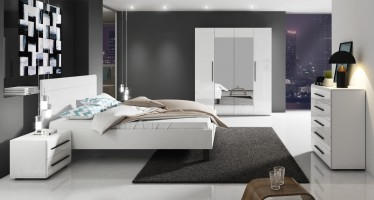 Slaapkamer Hampton 180 - Wit - Groot