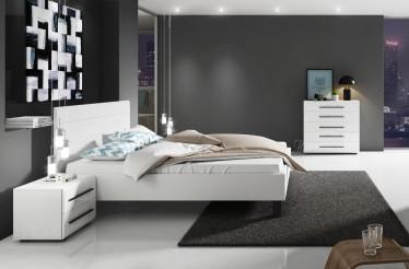 Tweepersoons bedden design bedden van leer meubella - Klein slaapkamer design ...