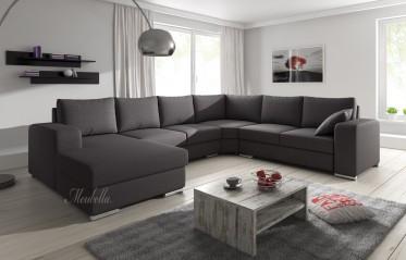 Hoekbank Adel - Donker grijs - Stof - Links - Showroommodel