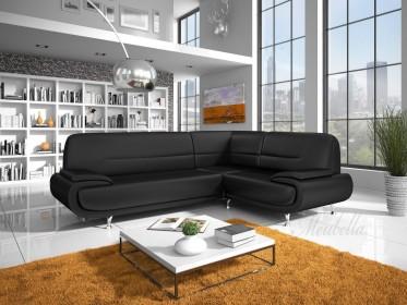 Hoekbank Atlantis - Zwart - Rechts - Showroommodel