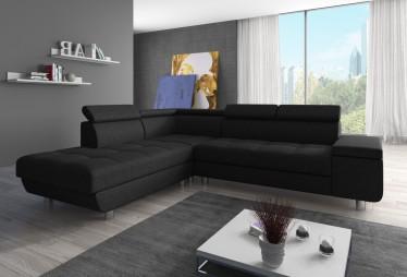 Loungebank Stof Zwart.Hoekbanken Stof Goedkoop En Direct Leverbaar Meubella