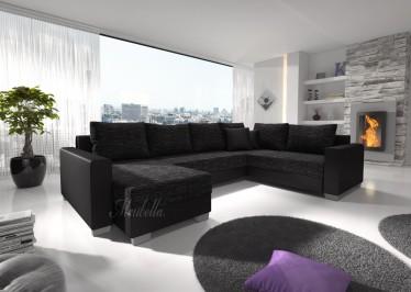 Hoekbanken leer woonkamer meubella for Hoekbank design outlet