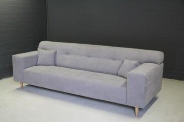 Bankstel Emery - 3-zitsbank - Lichtgrijs - Stof - Showroommodel
