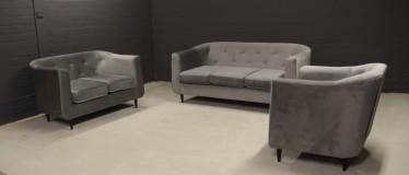 Bankstel Piper - Lichtgrijs stof - Showroommodel