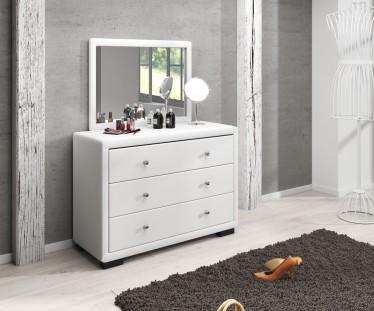 Kaptafel Dover - Wit - Met spiegel