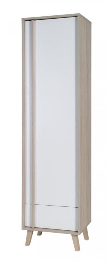 Kast Mira - Wit - Licht eiken - 51 cm - ACTIE