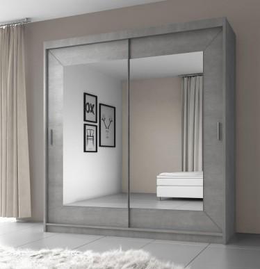 Kledingkast Atlanta - Betonlook - 200 cm