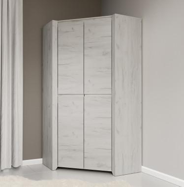 Kledingkast Aversa - Wit eiken - 96 cm